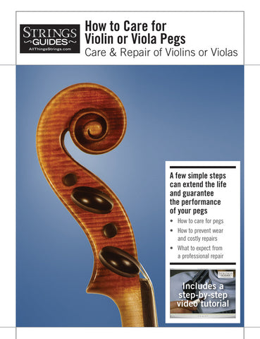 Care and Repair of Violins or Violas: How to Care for Violin or Viola Pegs