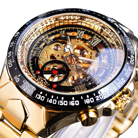 The Golden Luxury Skeleton Watch