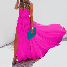 Load image into Gallery viewer, Sleeveless V-Neck Chiffon Elegant Vacation Dress
