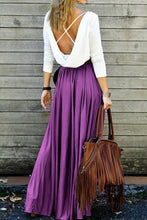 Load image into Gallery viewer, Fashion Casual Splicing Backless Maxi Dress