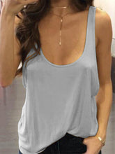 Load image into Gallery viewer, Scoop Neck Backless Sexy Camis