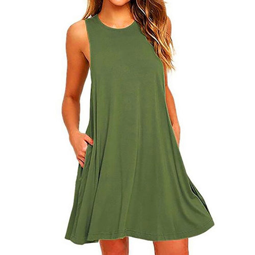 Round Neck  Cutout Patchwork  Plain Shift Dresses