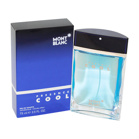 MO49M - Mont Blanc Presence Cool Eau De Toilette for Men - Spray - 2.5 oz / 75 ml