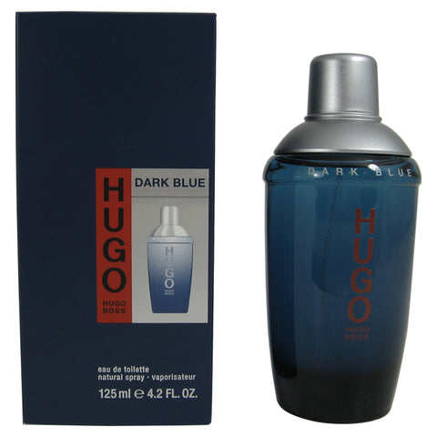 HU27M - Hugo Dark Blue Eau De Toilette for Men - Spray - 4.2 oz / 125 ml