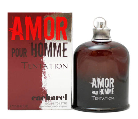 AMT15M - Amor Pour Homme Tentation Eau De Toilette for Men - Spray - 4.2 oz / 125 ml