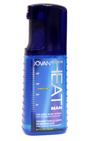JOV18M - Jovan Heat Man Fired Up Cologne for Men - 8.4 oz / 250 ml Spray Unboxed