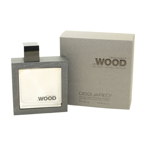 DESW34M - Dsquared2 He Wood Silver Wind Wood Eau De Toilette for Men - Spray - 3.4 oz / 100 ml