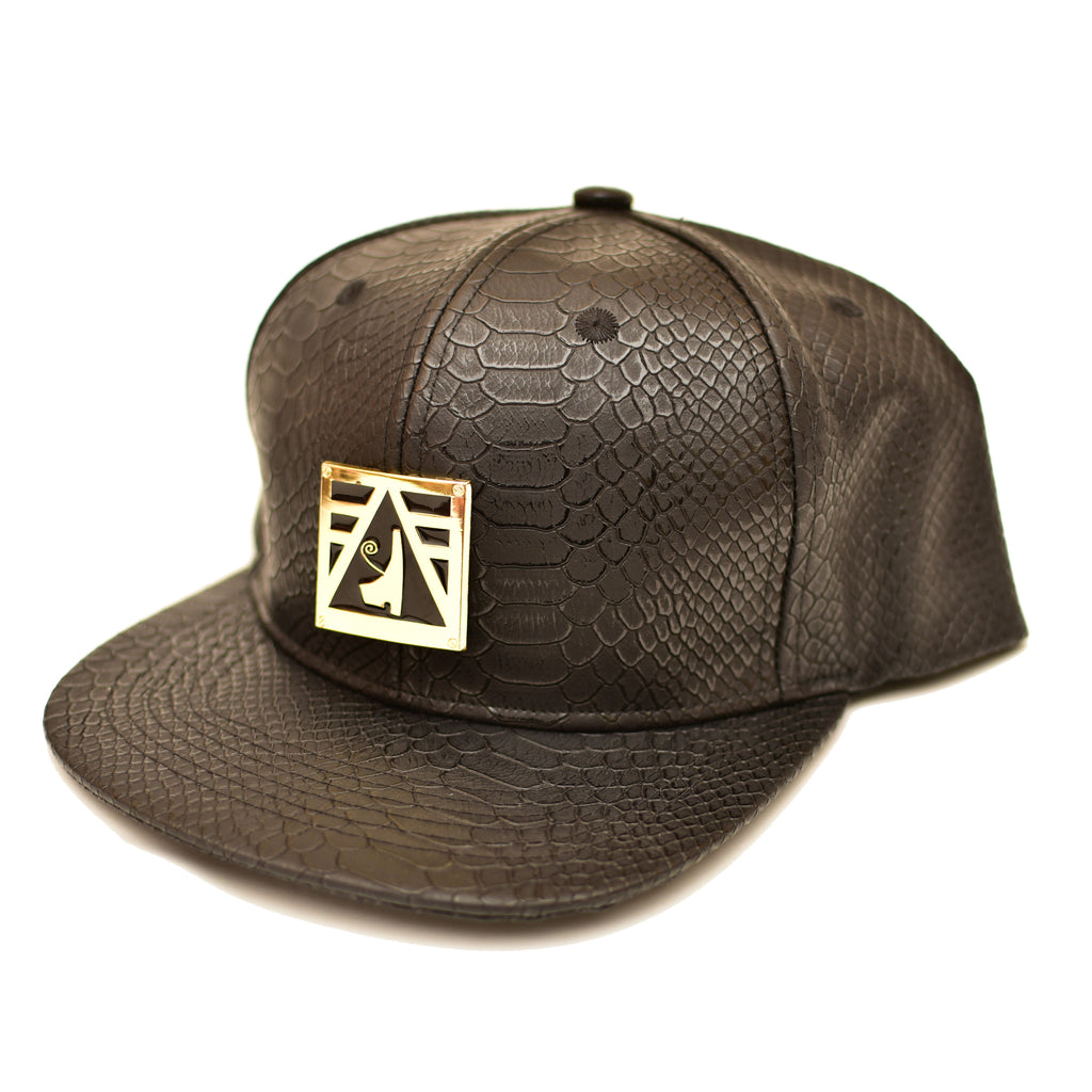 Negash ™ Leather Heru Snap-Back