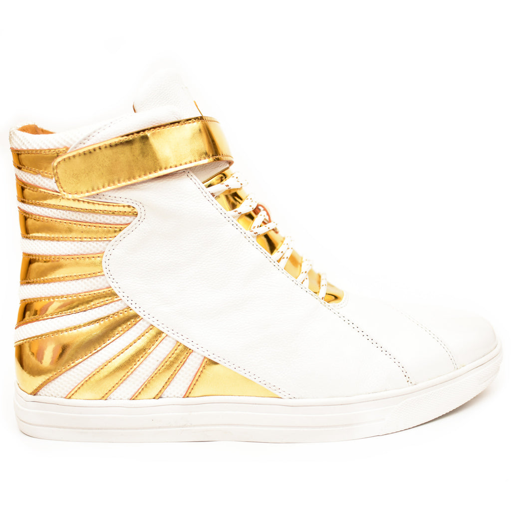 Negash ™ Amun Ra Sneakers White & Gold (Limited Edition)