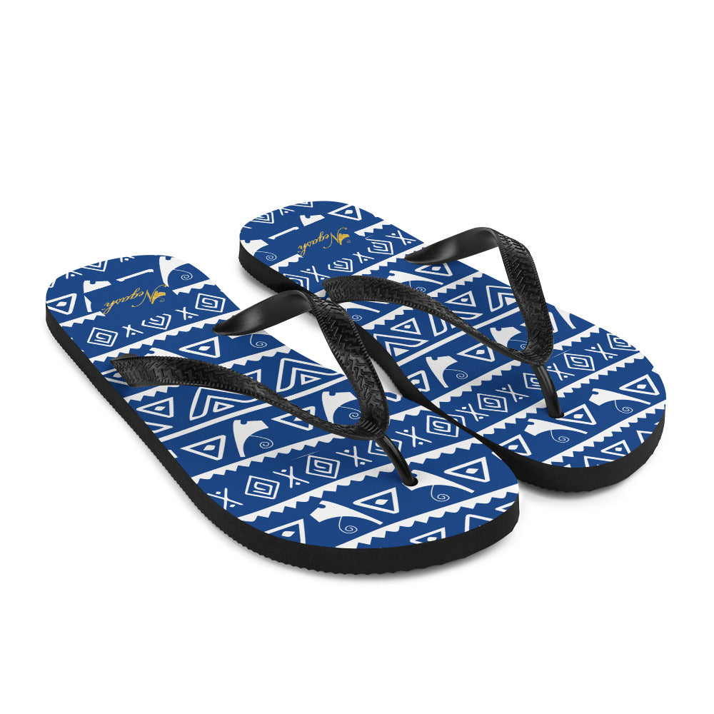 Negash Tribal (Blue) Flip-Flops