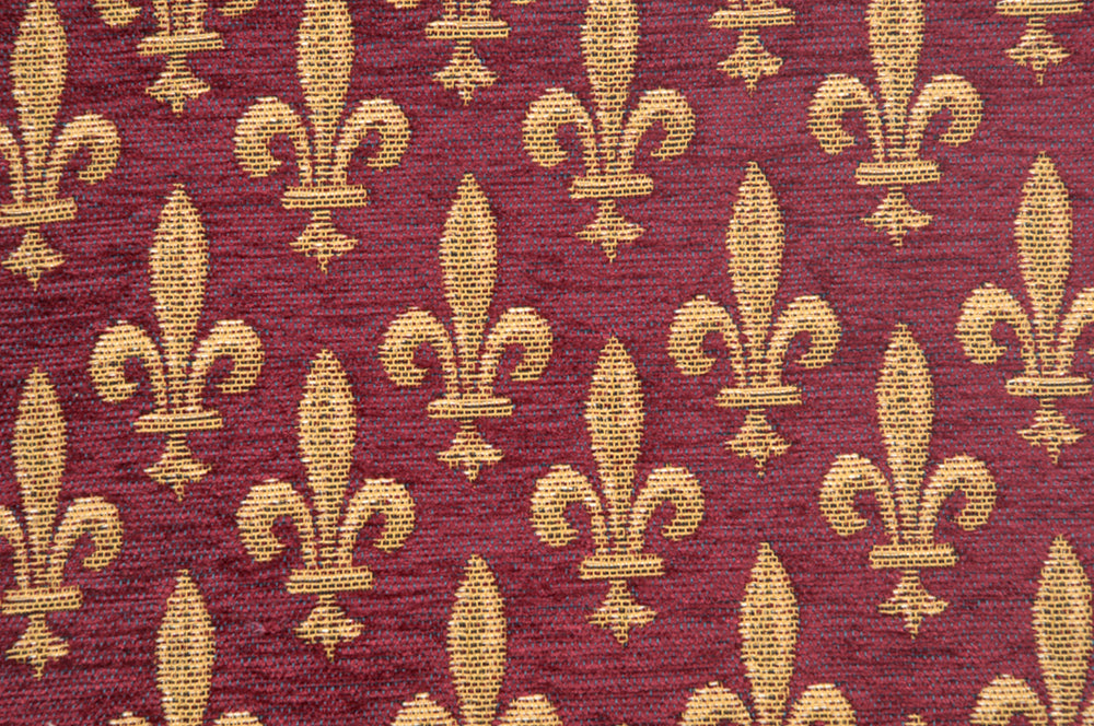 Fleur de Lys Rouge IV European Cushion Cover