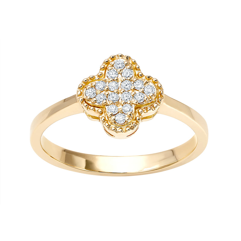 Clover Pavé Ring