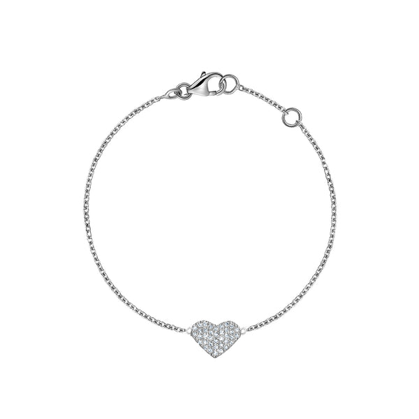 Diamond Single Heart Bracelet