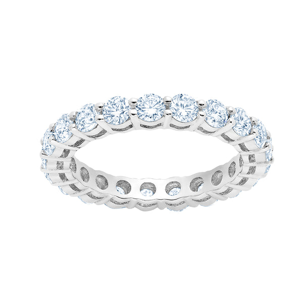 Shared Prong Diamond Ring