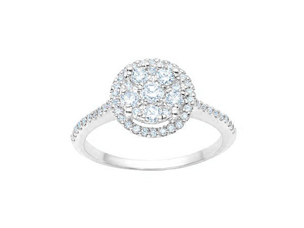Cluster Halo Engagement Ring