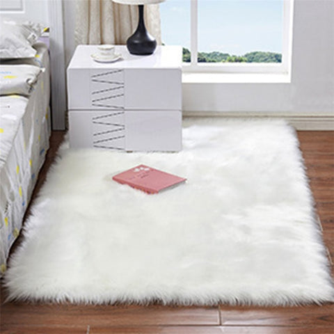 3 Sizes Soft Rectangle Faux Sheepskin Rug Fluffy Plush Sofa Carpet House Living Room Bedroom Carpet Shaggy Area Rug Floor Mat