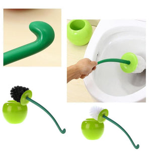 Cherry Toilet Brush Set Plastic Toilet Cleaning Brush Daily Necessities Seal Design Anti-skid Handle  400 * 150 * 150 mm