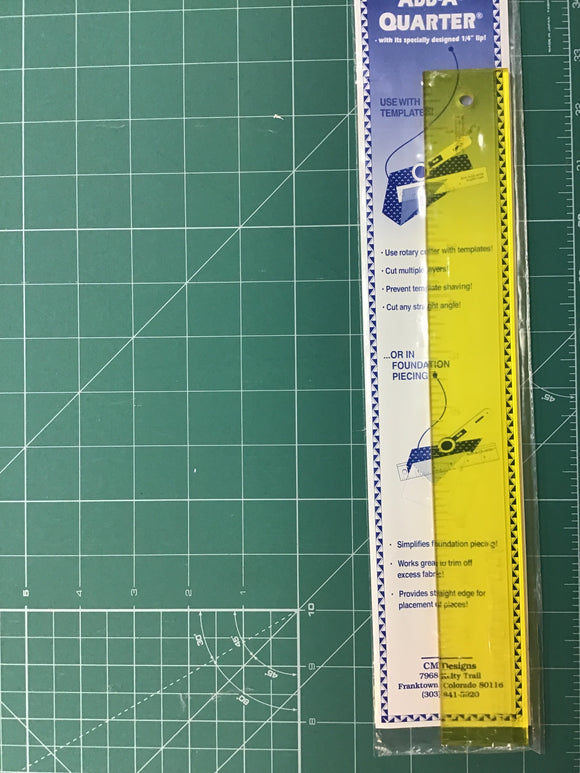 "Add a Quarter 12"" Ruler"
