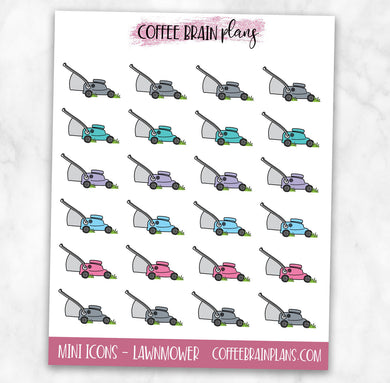 Lawn Mower Icons Planner Stickers