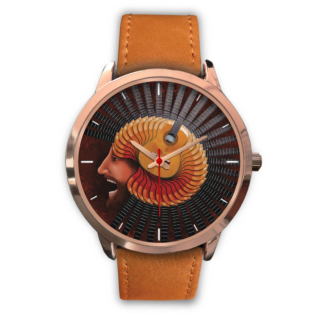 Spinning Guitar Watch
