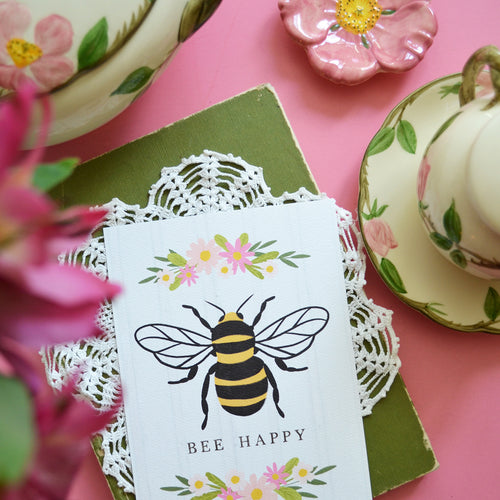 Bee Happy - art print
