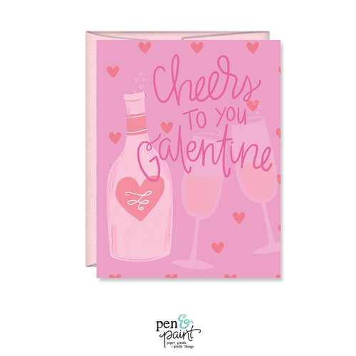 Cheers to you Galentine Happy Galentine's Day card
