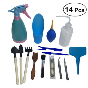21pcs Mini Garden Tools Set Miniature Planting Gardening Tool Set Succulent Transplanting Tools Kit