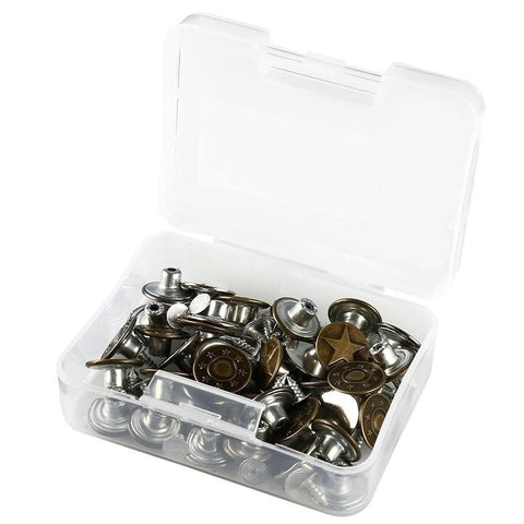 40 Sets Tools Metal Jeans Button Tool