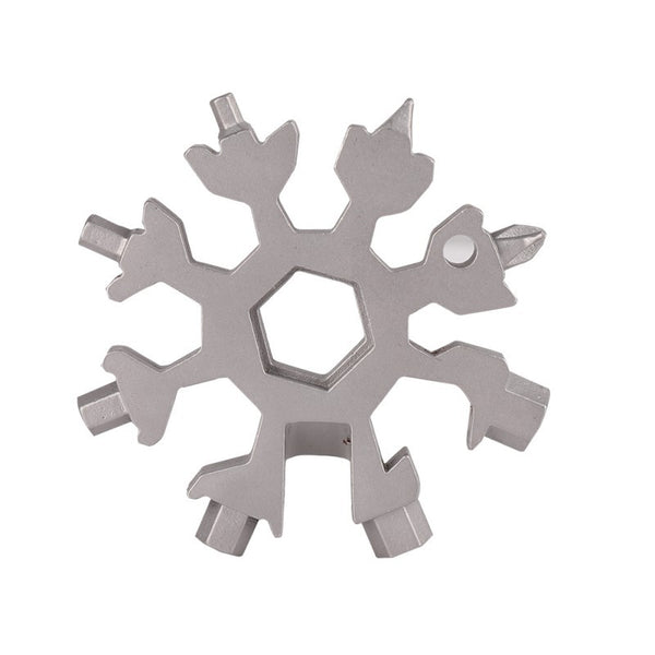 EDC Tool 18-in-1 multi-tool card combination Compact and portable outdoor products Snowflake tool card