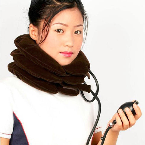neck cervical traction device inflatable collar household equipment health care massage device nursing care Big Sale