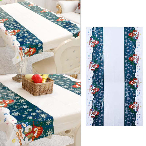 Xmas Tableware Tablecloth Merry Christmas Decorations for Home Kitchen Dinner Table Covers Natal Noel New Year Products