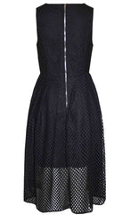 Gridlock Black Midi Dress