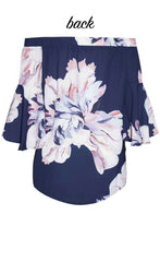 Glance Navy Floral Top
