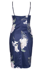 Harriet Navy Floral Midi Dress