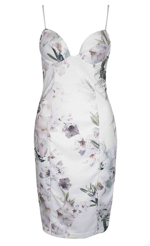 Harriet Lilac Floral Midi Dress