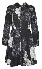 Bethany Black Floral Dress