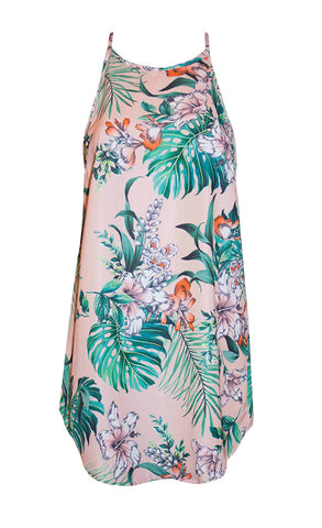 Mia Peach Tropical Dress
