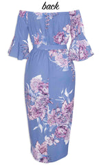 April Purple Floral Dress