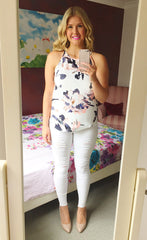 Anita Peach Floral Top