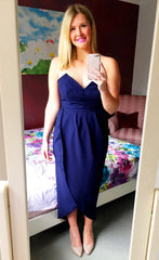Goodnight Kiss Navy Maxi Dress