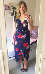Hideaway Navy Floral Maxi Dress