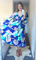 Kasey Navy Floral Dress