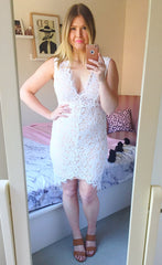 Lean In White Lace Dress