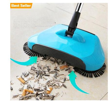 360 Degree Rotating Household Automatic Hand Push Sweeper (Free Shipping)