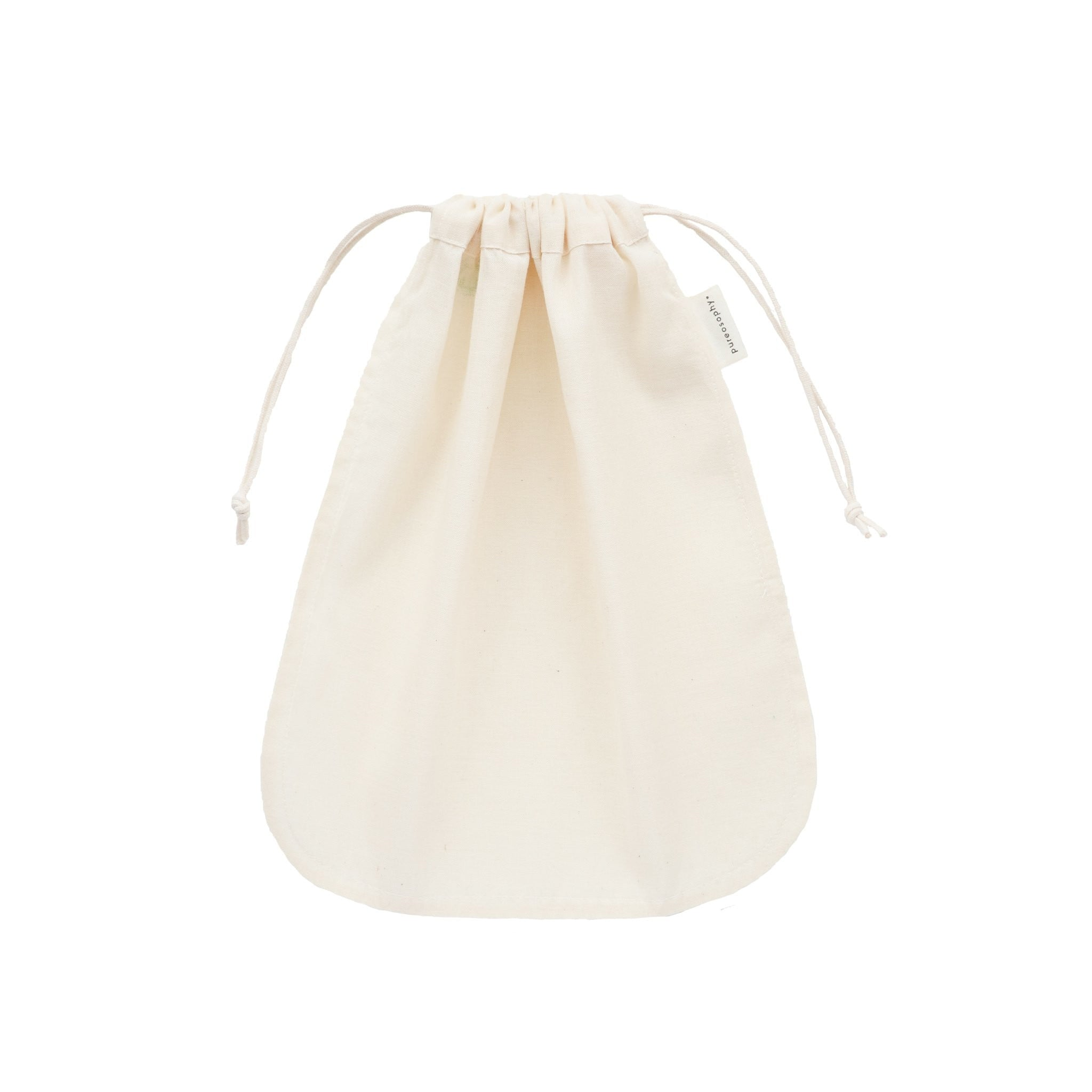 Organic cotton nut milk bag closed