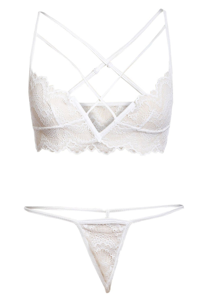 White Lace Bralette & Pantie Set