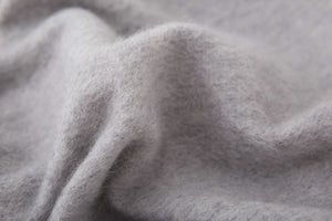 Large Cashmere Scarf, Light Grey