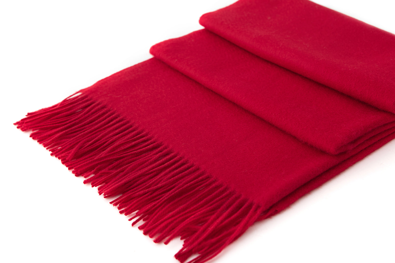 Large Cashmere Scarf, Red