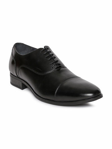 Hush Puppies Men Black Leather Oxfords