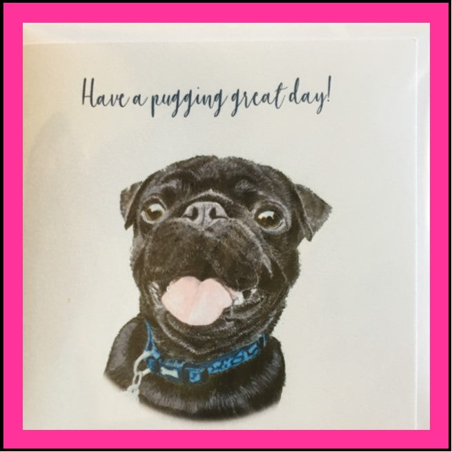 Greeting Card Pug -